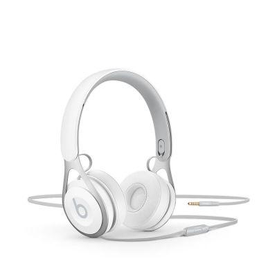 Beats EP On-Ear бели слушалки с рамка и наушници с размер на ухото