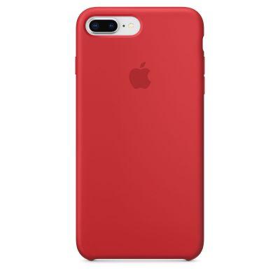 Червен силиконов кейс Apple за iPhone 8 Plus / 7 Plus - (PRODUCT)RED