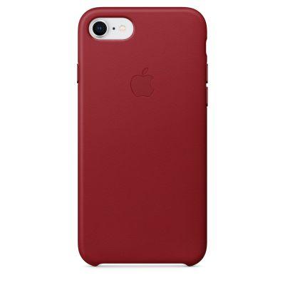 Червен кожен кейс Apple за iPhone 8 / 7 - (PRODUCT)RED