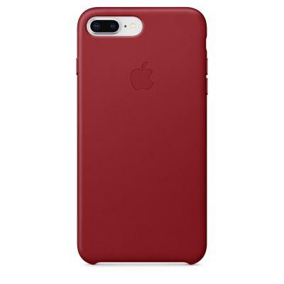 Червен кожен кейс Apple за iPhone 8 Plus / 7 Plus - (PRODUCT)RED
