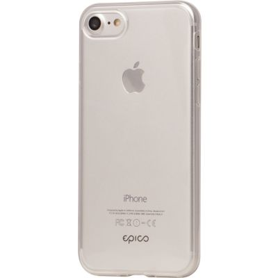 Plastic TPU case for iPhone 7/8  EPICO TWIGGY GLOSS - white transparent