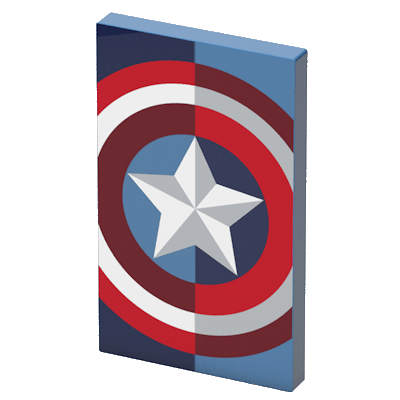 Преносима външна батерия Tribe Marvel Captain America - синя