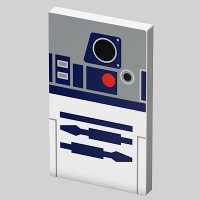 Преносима външна батерия Tribe Star Wars R2D2 - сива