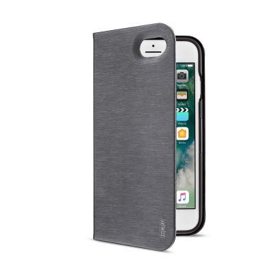 Тъмносив калъф тип портфейл с функция стойка FolioJacket от Artwizz за смартфон Apple iPhone 7