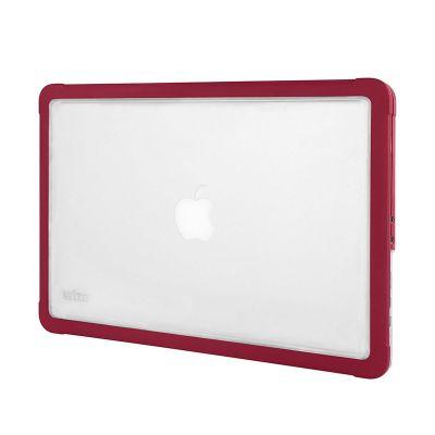 Червен подсилен кейс Dux от STM за лаптоп Apple MacBook 15''
