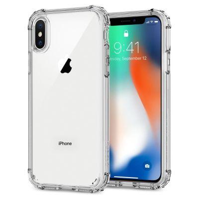 Прозрачен защитен кейс Spigen Crystal Shell за iPhone X
