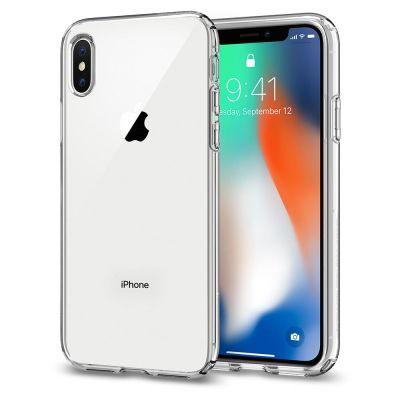 Прозрачен калъф за iPhone X - Spigen Liquid Crystal