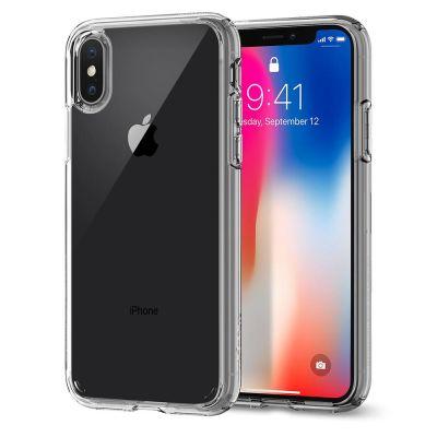 Прозрачен калъф за iPhone X от Spigen - Ultra Hybrid