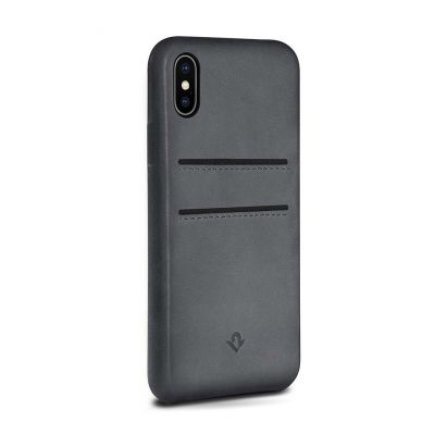 TwelveSouth RelaxedLeather for iPhone X (with pockets) - Earl Grey